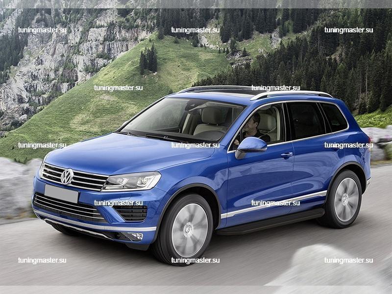 Пороги Volkswagen Touareg (Black) 2