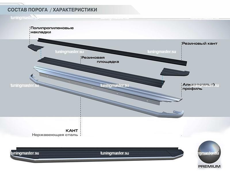 Пороги KIA Sorento '12- (Premium) 4