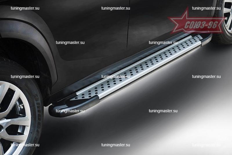 Пороги Ford Ranger алюминиевый профиль