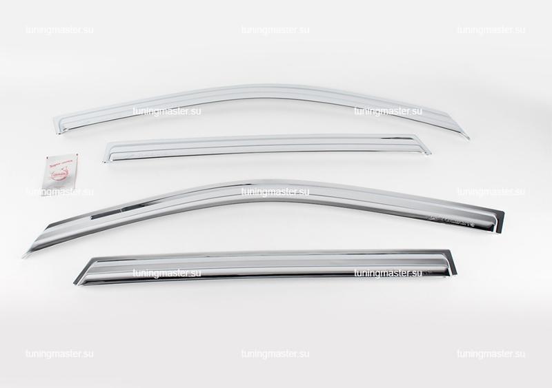 Дефлекторы боковые Hyundai IX-35 / Tucson (хром)