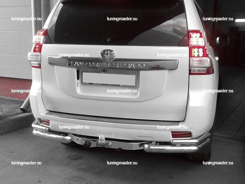 Фаркоп Toyota Land Cruiser 150 с накладкой из нержавеющей стали 6