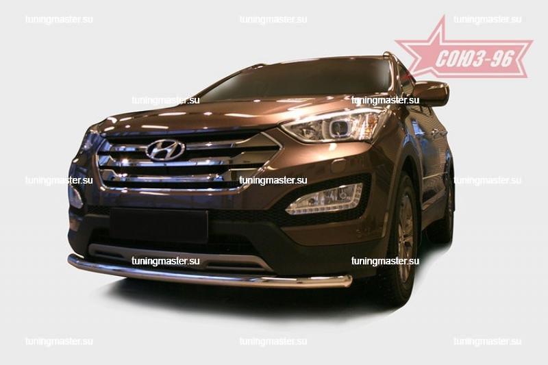 Защита переднего бампера Hyundai Santa Fe труба Ø60 2