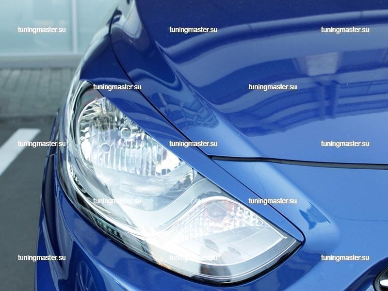 Накладки на фары Hyundai Solaris 2