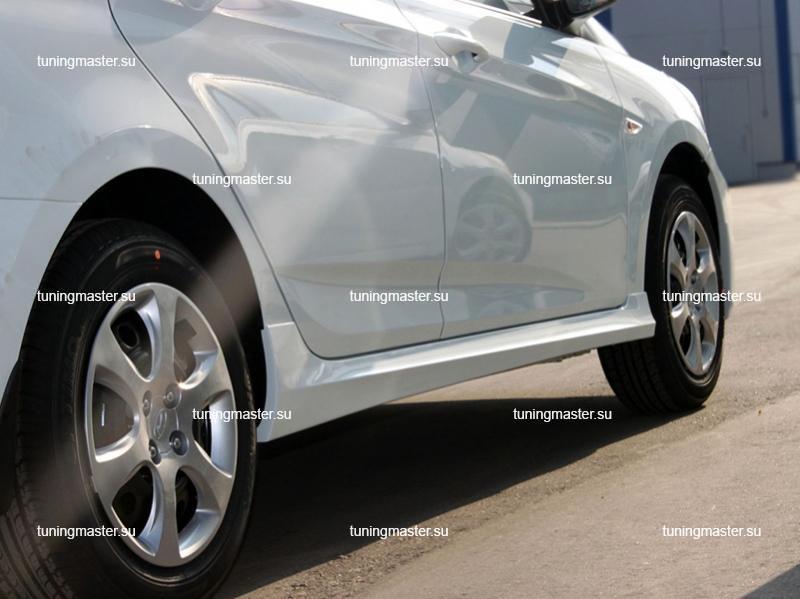 Пороги боковые Hyundai Solaris