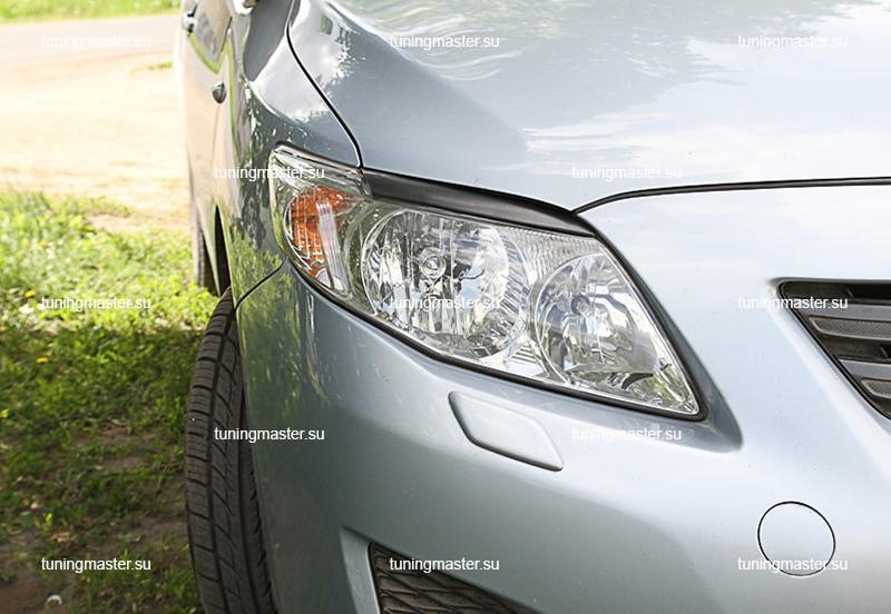 Накладки на фары Toyota Corolla