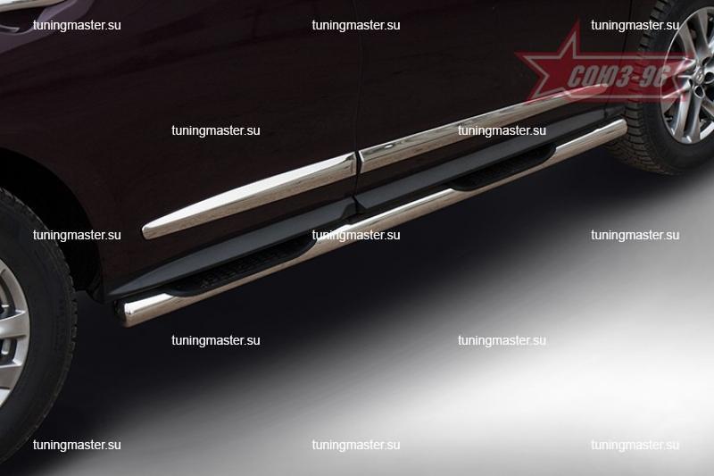 Пороги Infininti QX60 труба с проступями Ø76