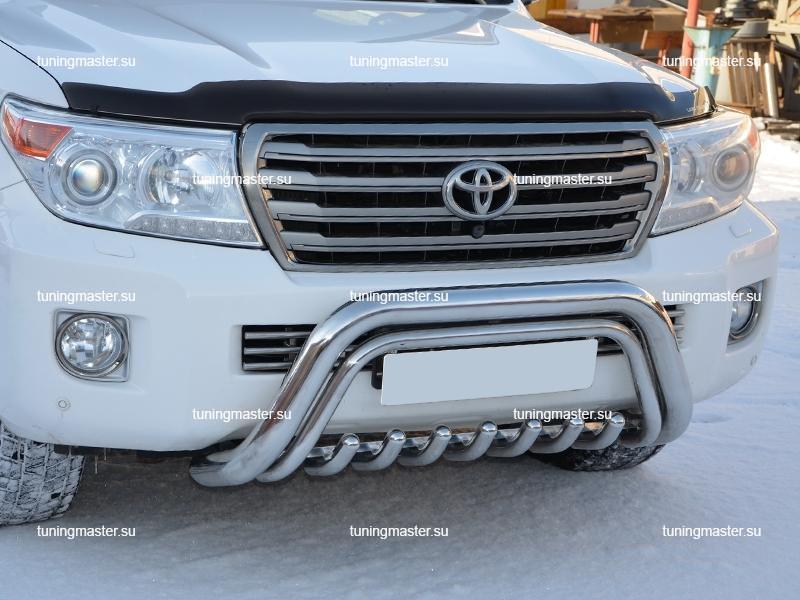 Кенгурин передний Toyota Land Cruiser 200 с защитой картера Ø76/42