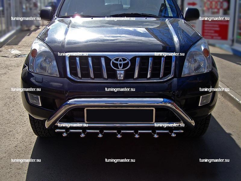 Кенгурин передний Toyota Land Cruiser Prado 120 с нижней защитой Ø76 2