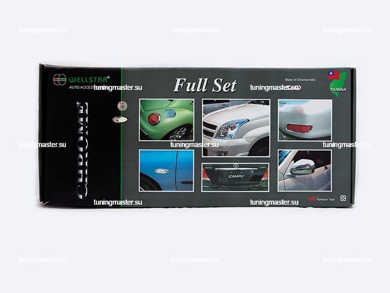 Комплект хромированных накладок Toyota Land Cruiser Prado 120 2