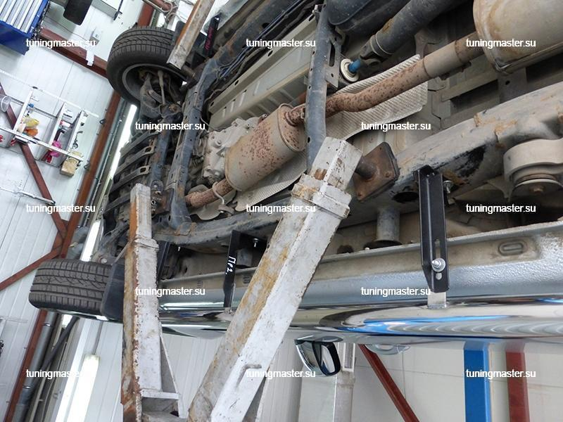 Пороги VolksWagen Amarok труба с проступями Ø76 6