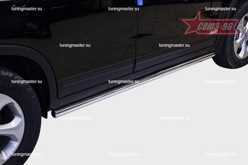 Защита порога Kia Sorento труба Ø60