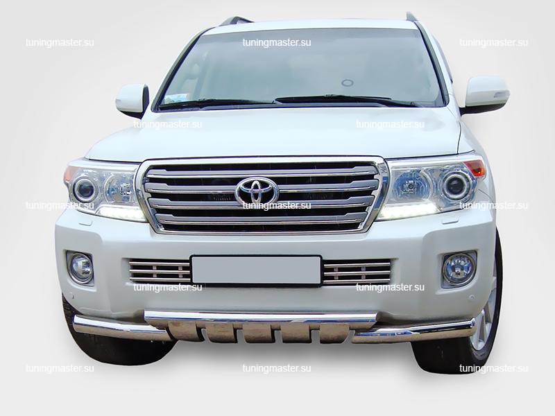 Защита переднего бампера Toyota Land Cruiser 200 Style Groender Ø76