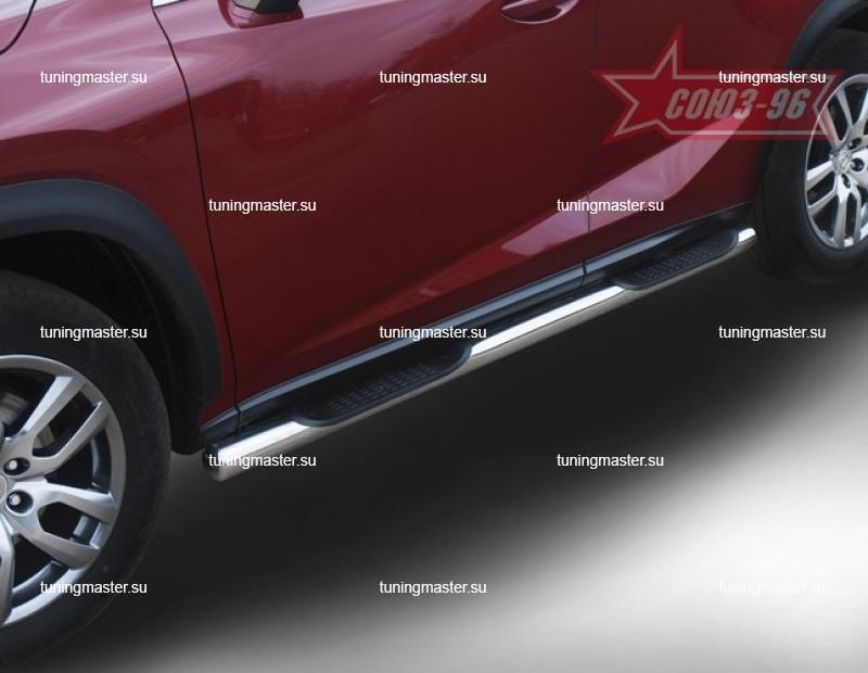 Пороги Lexus NX труба с проступями Ø60