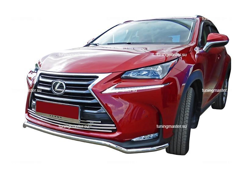 Защита переднего бампера Lexus NX труба Ø42