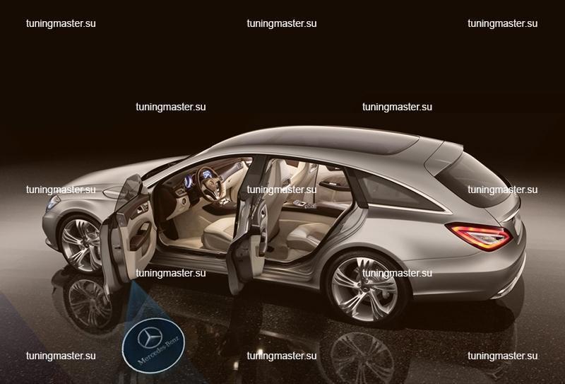 LED проектор дверной с логотипом Mercedes Benz