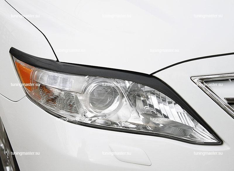 Накладки на фары Toyota Camry V40 (длинные)