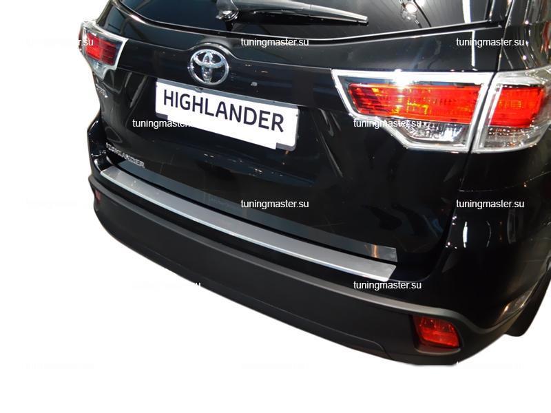 Накладка на задний бампер Toyota Highlander с загибом