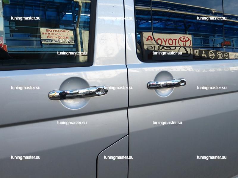 Накладки на ручки дверей VolksWagen Transporter T-5 (нерж.) 3шт