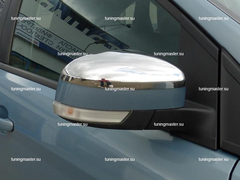 Накладки на зеркала Ford Focus 2 (нерж.)