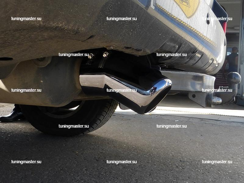 Насадка на глушитель Toyota Land Cruiser 200 (темный хром) 2