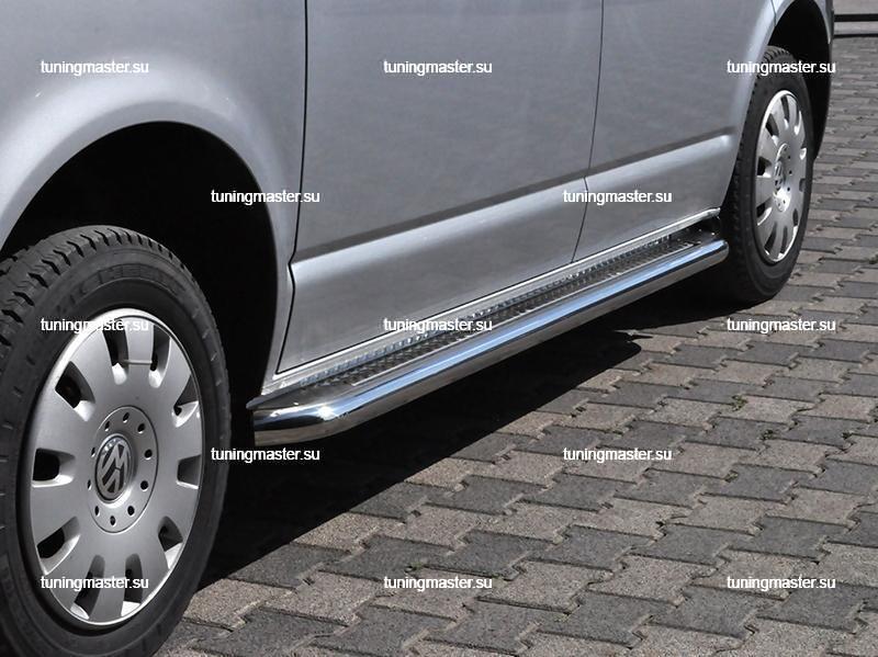Пороги Volkswagen Transporter T5 труба с листом Ø60 (C2)