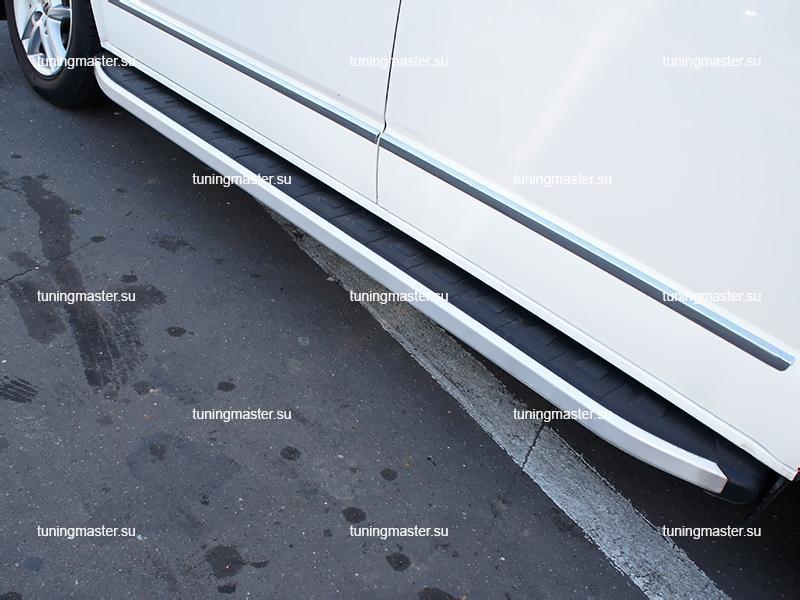 Пороги алюминиевые Volkswagen Transporter T5 (Alyans)