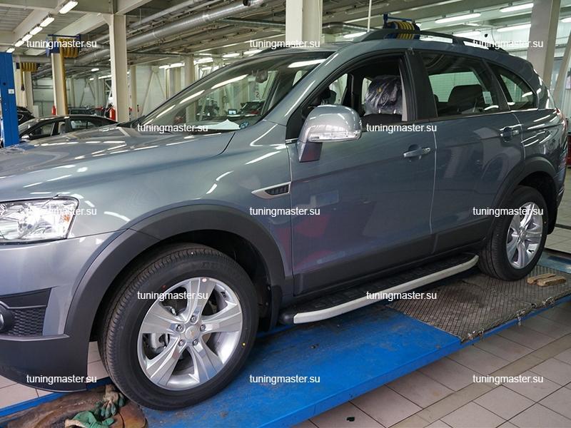 Пороги алюминиевые Chevrolet Captiva (Alyans)