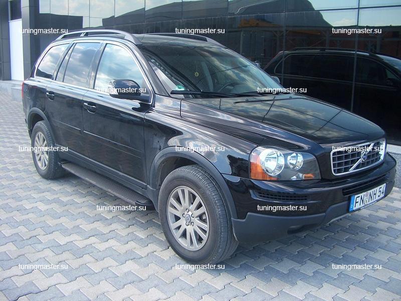 Пороги алюминиевые Volvo XC90 (Elegance Black)
