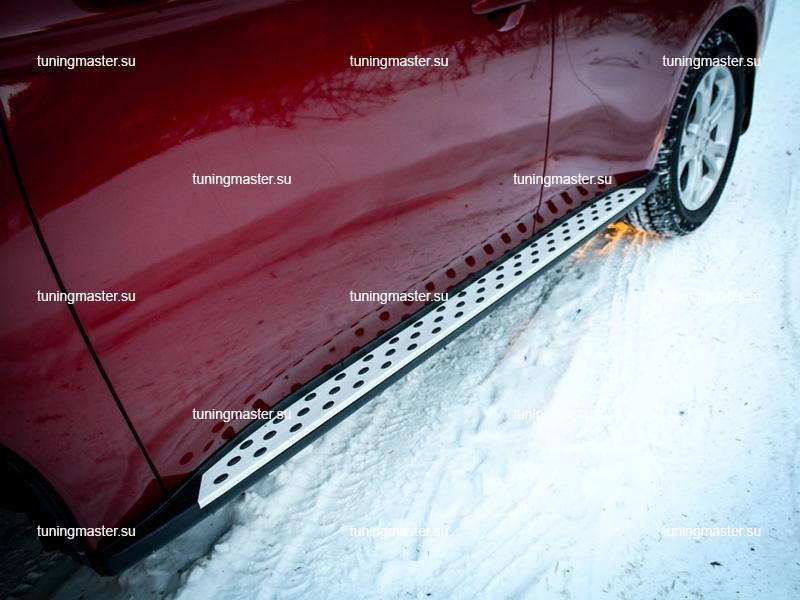 Пороги Mitsubishi Outlander (OEM) BMW Style