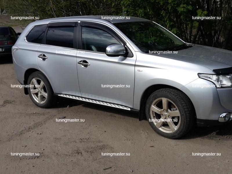 Пороги Mitsubishi Outlander '12- (OEM) BMW Style 3