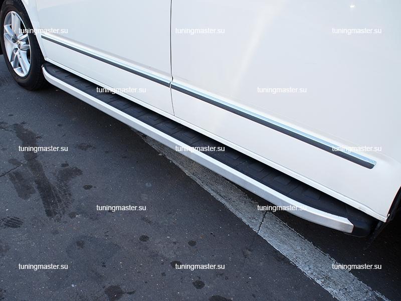 Пороги алюминиевые Volkswagen Transporter T5 (Alyans) короткая база