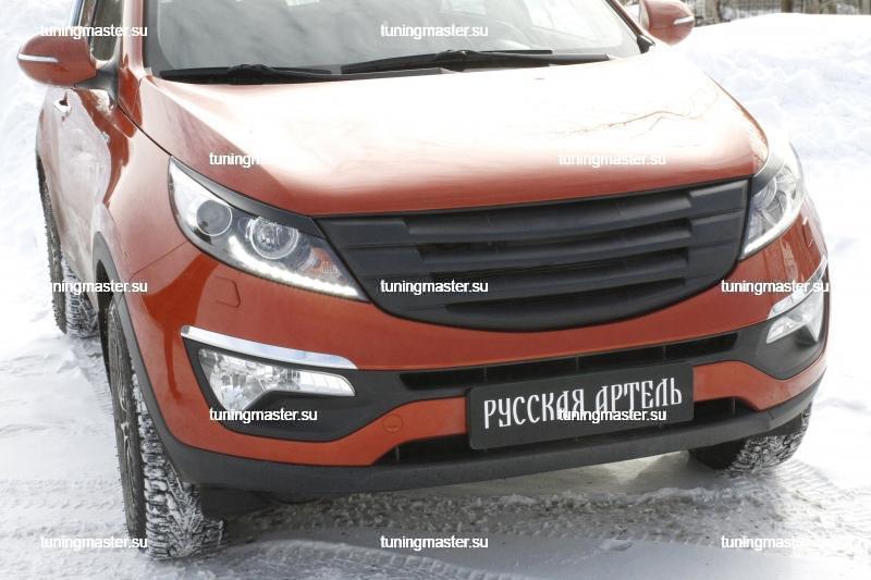 Накладки на фары Kia Sportage 3
