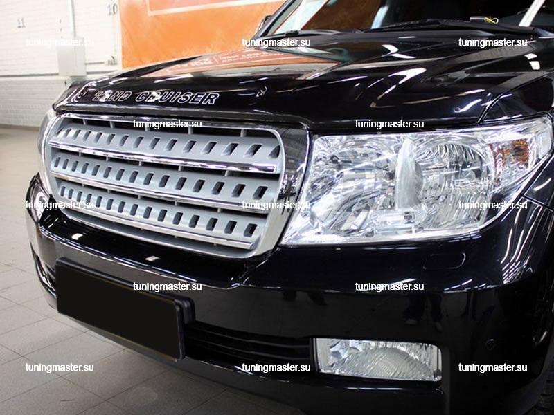 Решетка радиатора Toyota Land Cruiser 200 Mercedes Style (хром