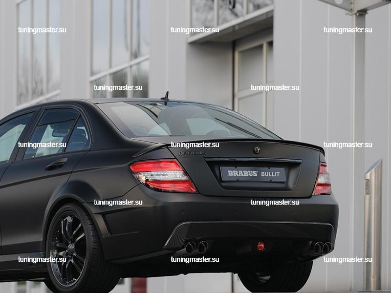 Спойлер на крышку багажника Mercedes Benz C-Class W204 BRABUS Style 3