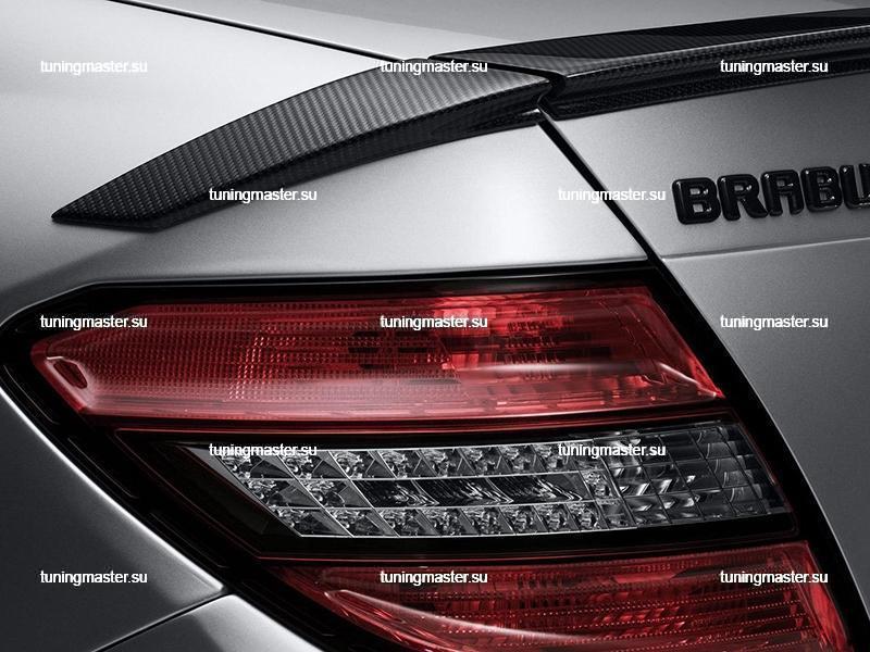 Спойлер на крышку багажника Mercedes Benz C-Class W204 BRABUS Style 2