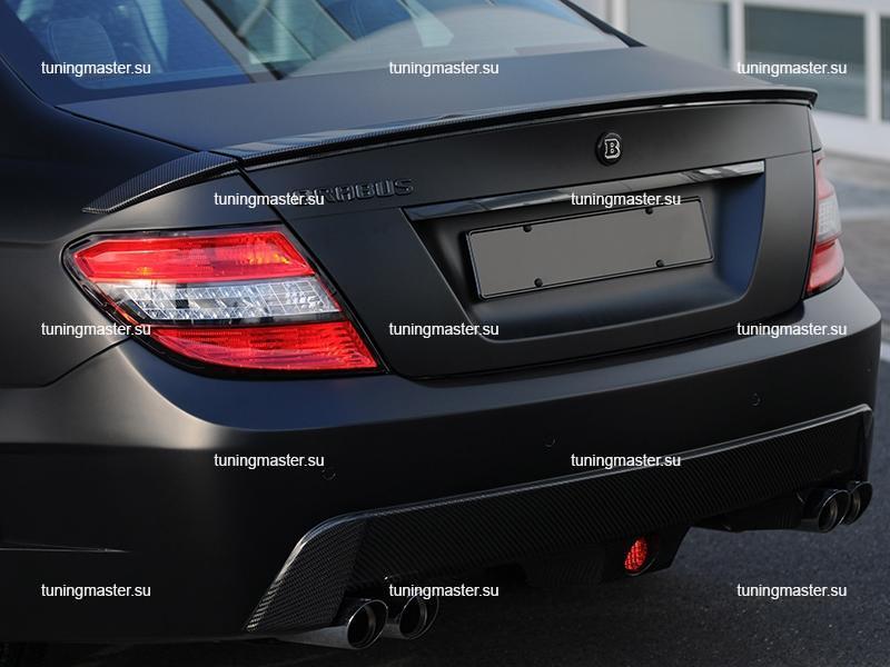 Спойлер на крышку багажника Mercedes Benz C-Class W204 BRABUS Style