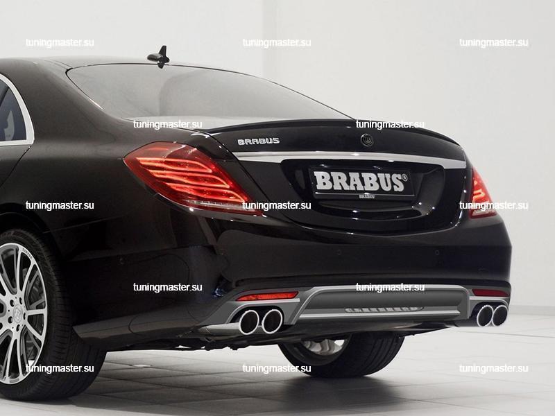 Спойлер на крышку багажника Mercedes Benz S-Class W222 BRABUS 4