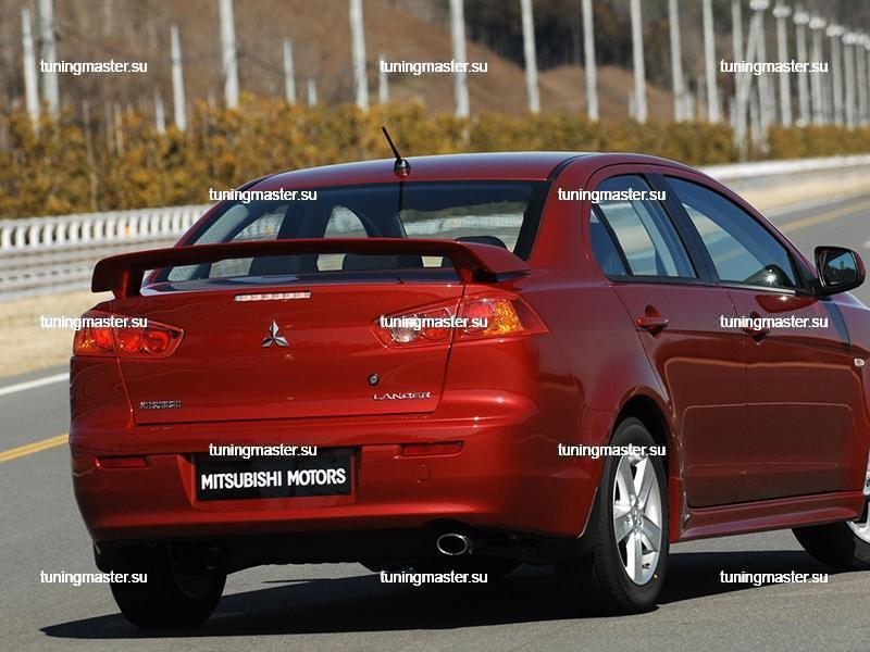 Спойлер на крышку багажника Mitsubishi Lancer 10 Sport 2