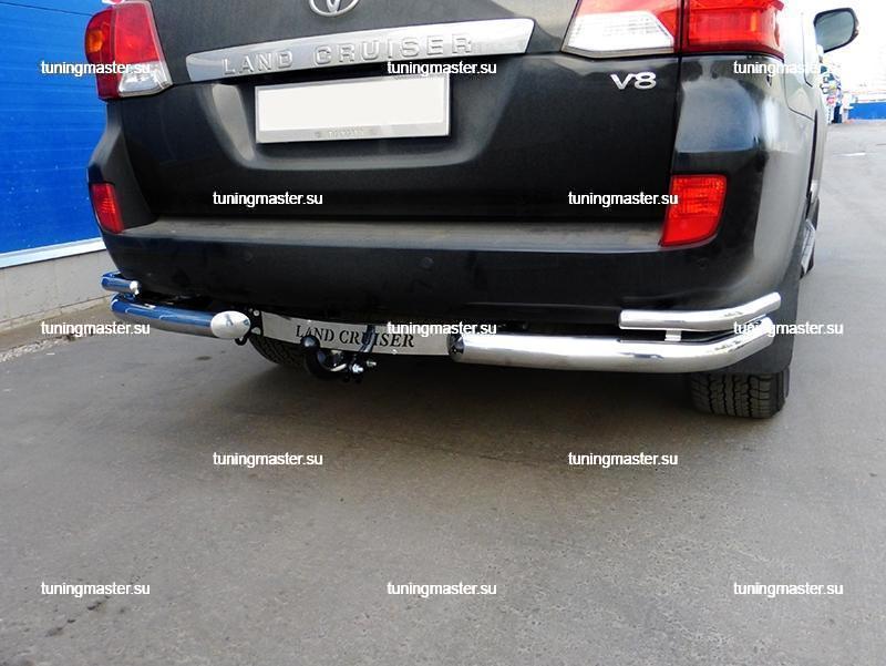Фаркоп Toyota Land Cruiser 200 с нержавеющей накладкой 6