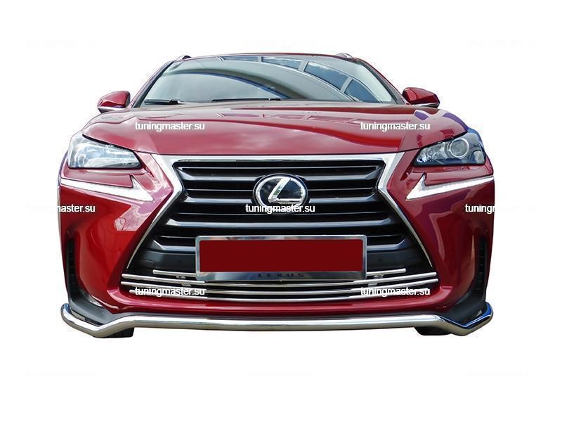 Защита переднего бампера Lexus NX труба Ø42 3