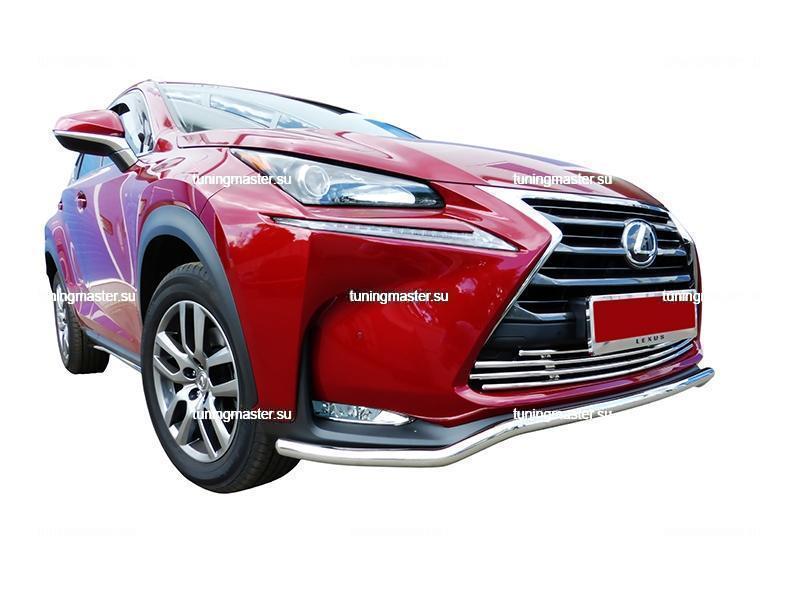Защита переднего бампера Lexus NX труба Ø42 2