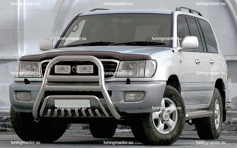 Кенгурин высокий с нижней защитой  Toyota Land Cruiser 100 Ø76/76