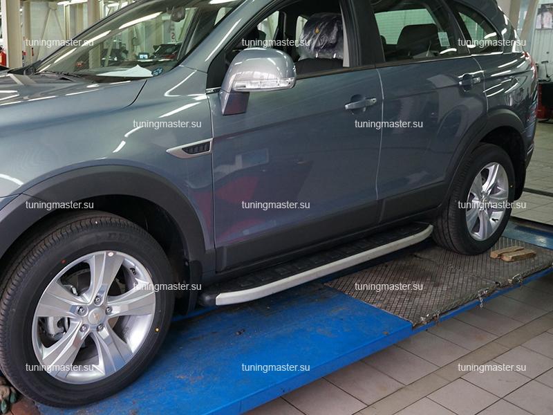 Пороги алюминиевые Chevrolet Trail Blazer (Alyans)