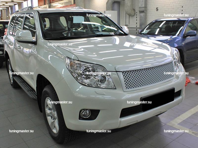 Решетка радиатора Toyota Land Cruiser Prado 150  бентли белая