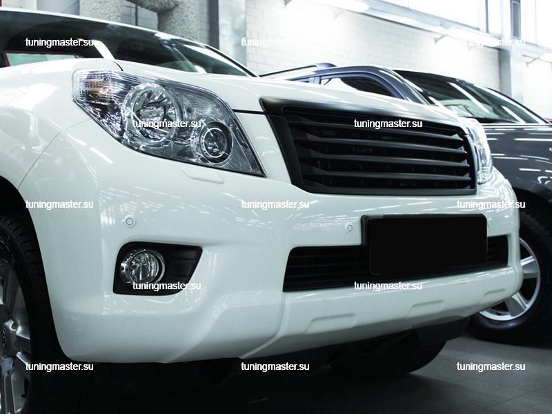 Решетка радиатора Toyota Land Cruiser Prado 150 Lexus Style черная