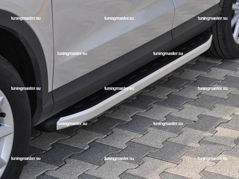 Пороги алюминиевые Audi Q3 (Alyans)