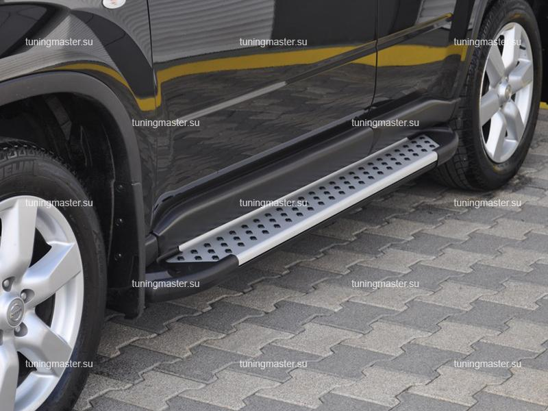 Пороги Nissan X-Trail T31 алюминиевый профиль