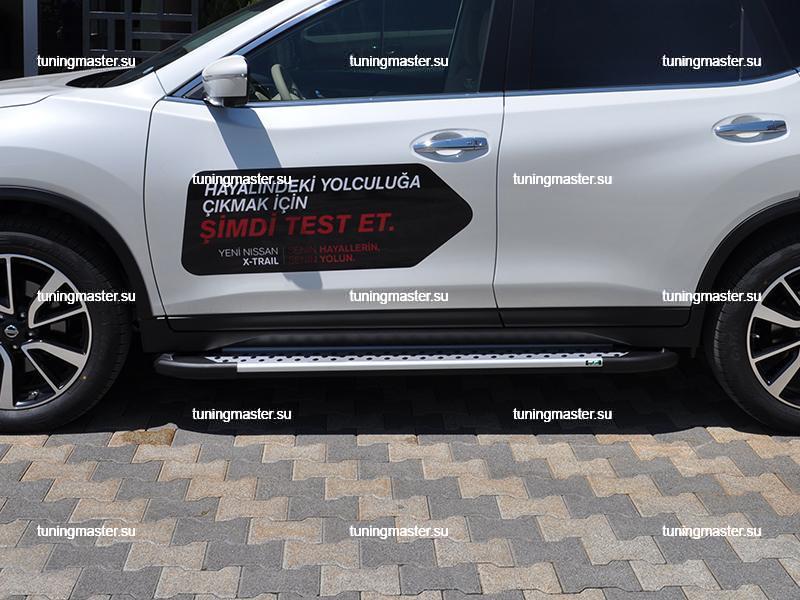 Пороги Nissan X-Trail T32 алюминиевый профиль