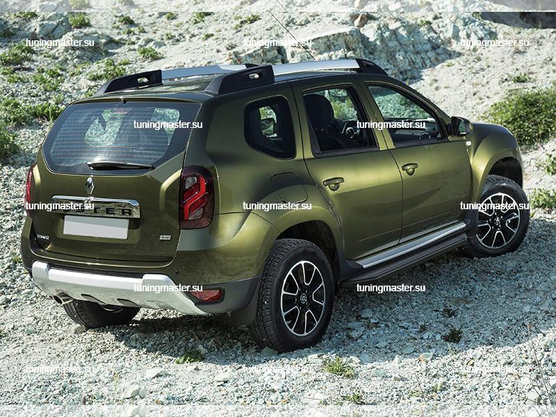 Пороги Renault Duster (Black)