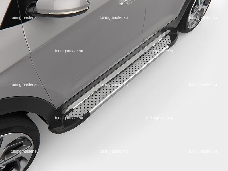 Пороги алюминиевые на авто (Sapphire) Canotomotiv